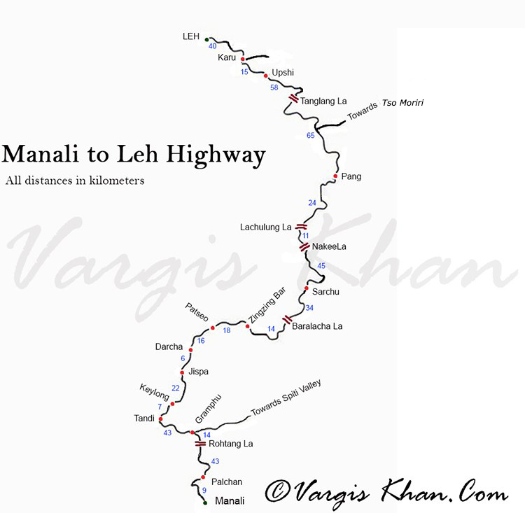 manali leh highway guide
