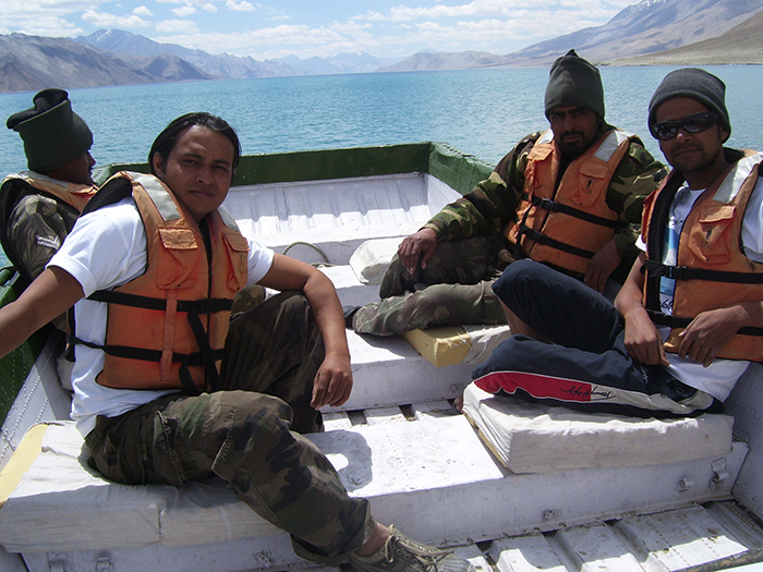 Boating In Pangong Lake