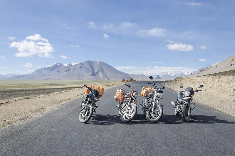 ladakh motorcycle rental rates