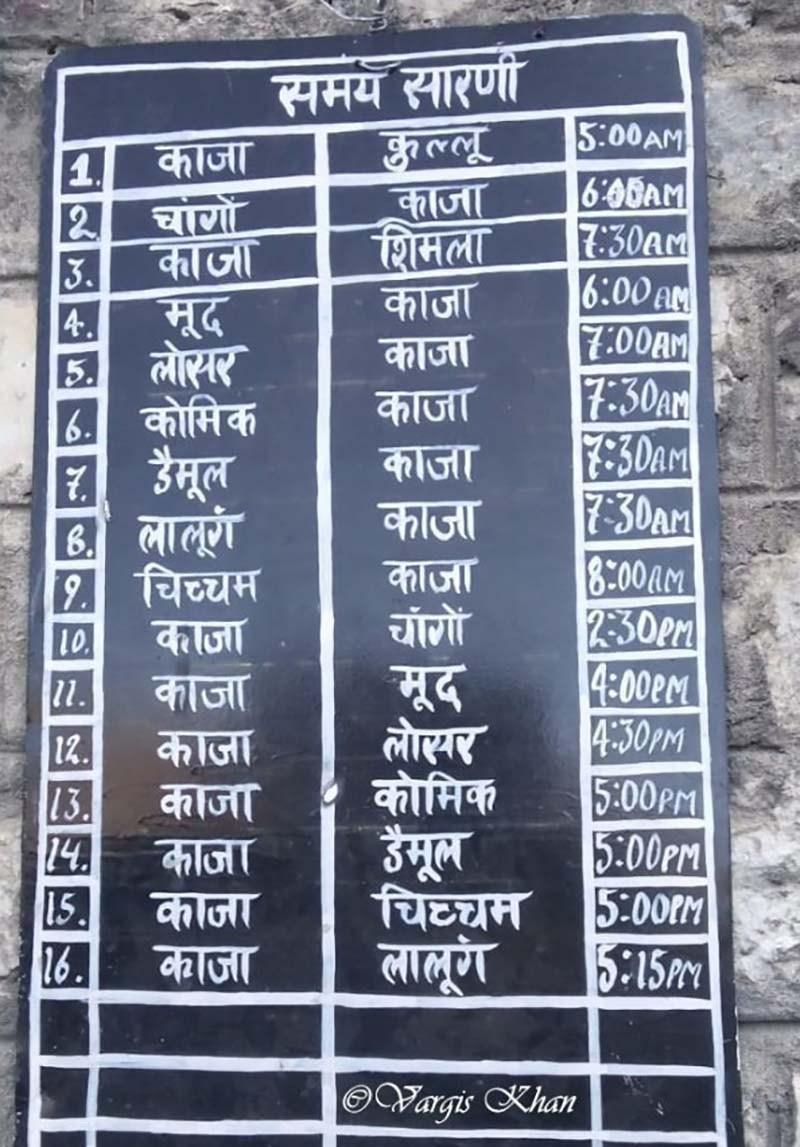spiti valley bus schedule
