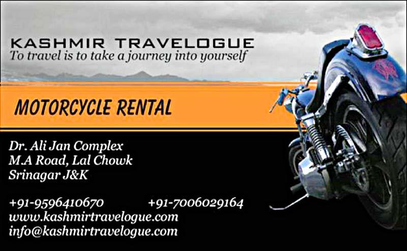 rent a bike in srinagar