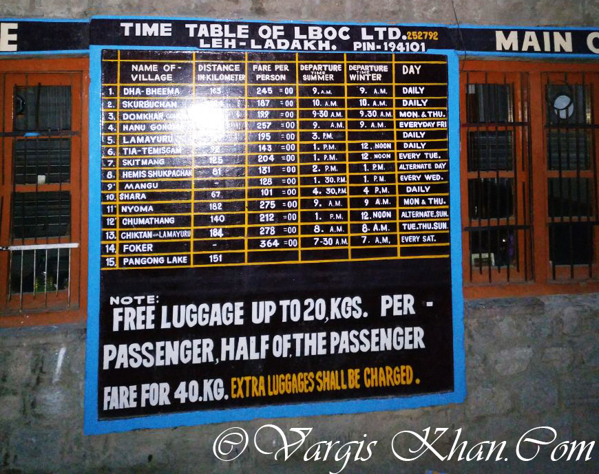 ladakh bus service
