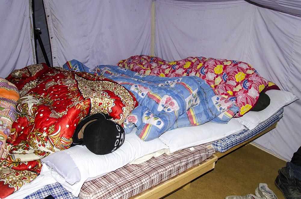 Accommodation at Pangong Tso