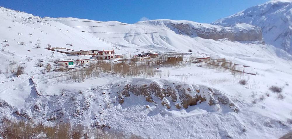 village in ladakh in january