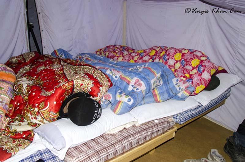 campsites at pangong