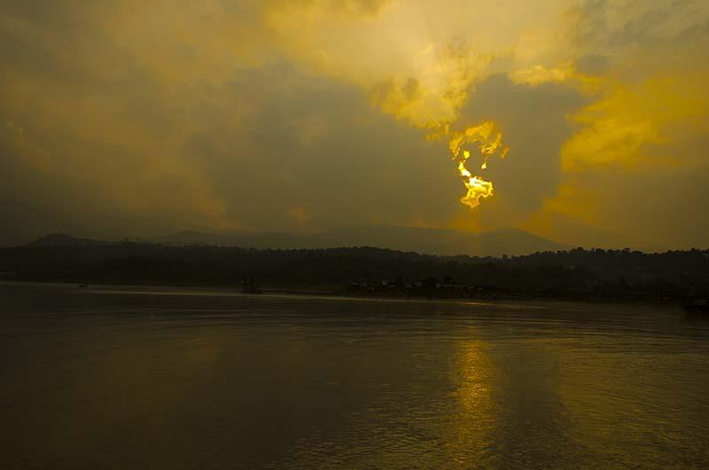 sunset in sunder nagar