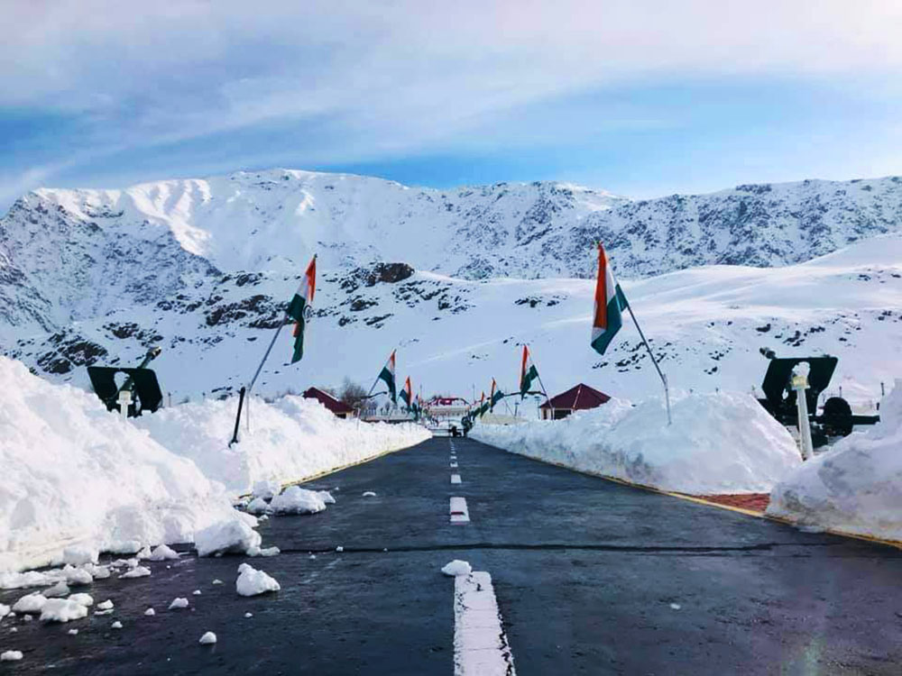 kargil war memorial in winter