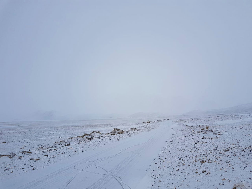 Ladakh Roads in Winter