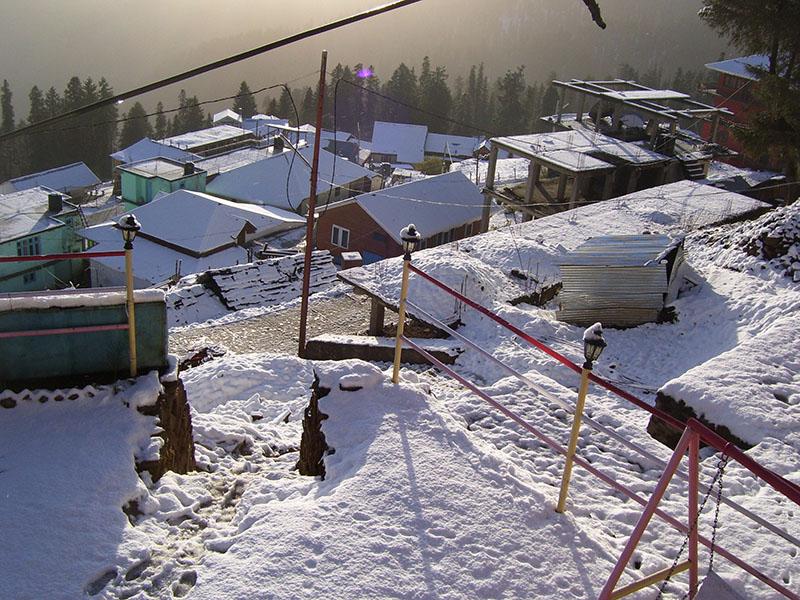 narkanda after snowfall