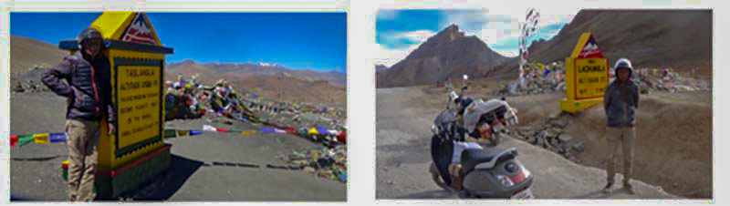 leh ladakh on scooter