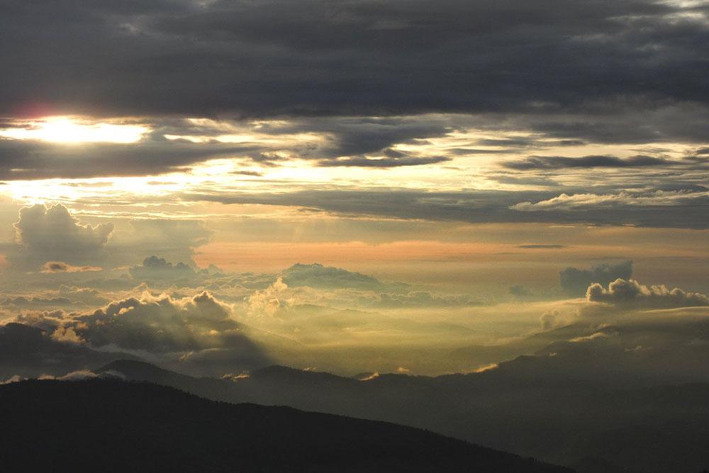 sunset from naina peak