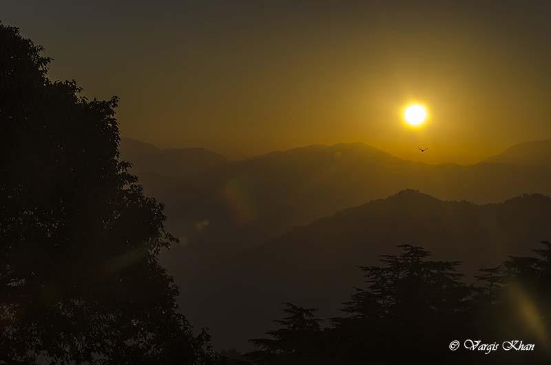 sunset in chakrata