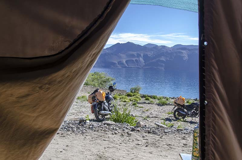 A View from a camp in Ladakh