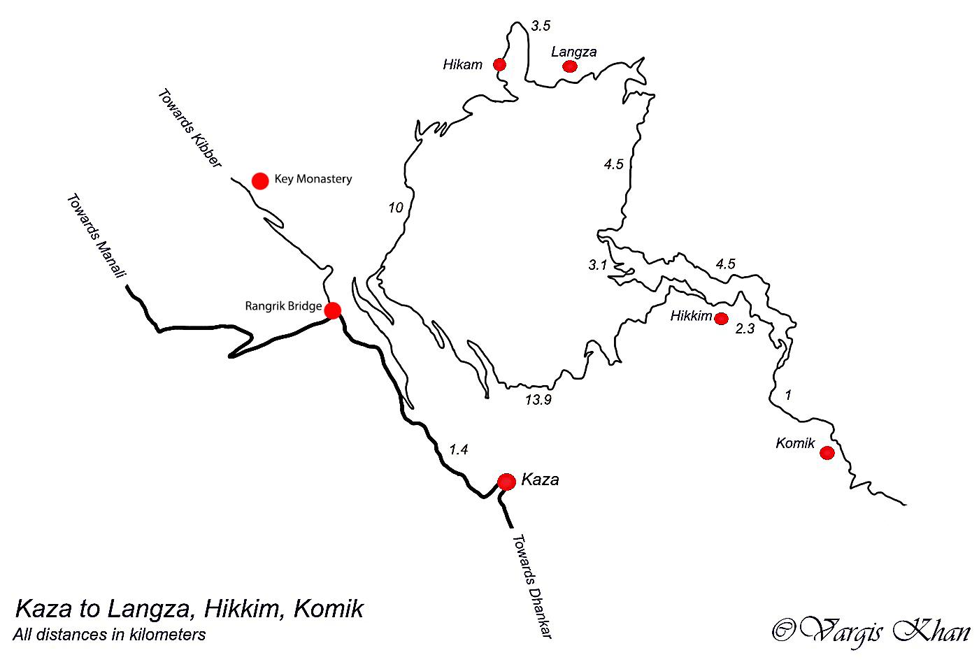 kaza to komic road map