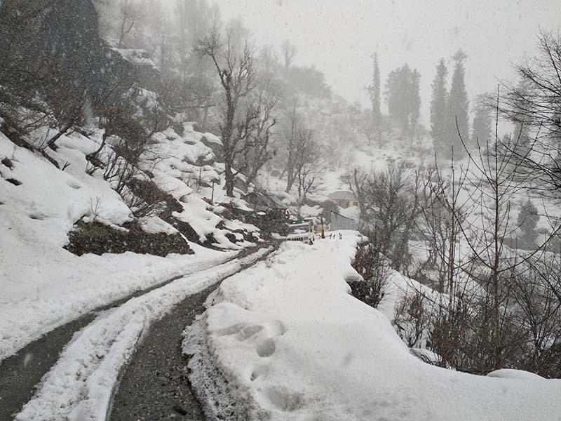 snowfall in parvati valley