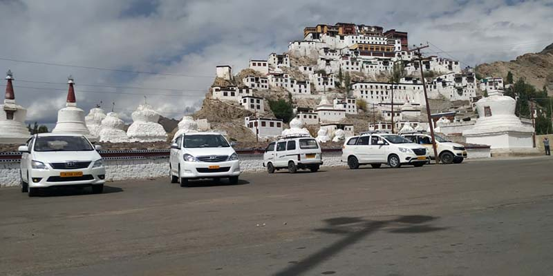 thiksey monastery parking lot