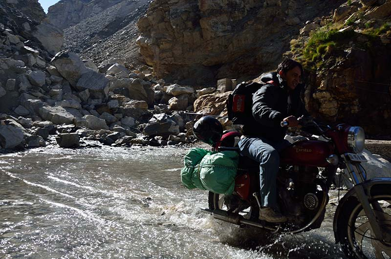 Motorcycle Water Crossing