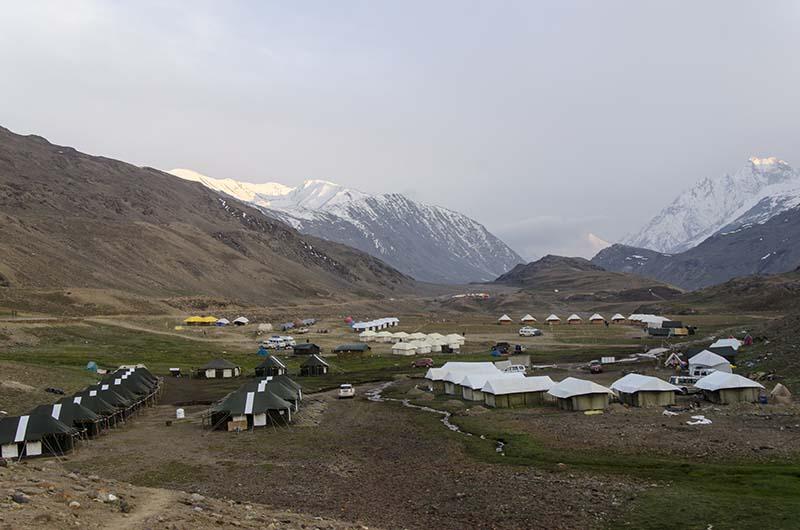 campsites at chandratal