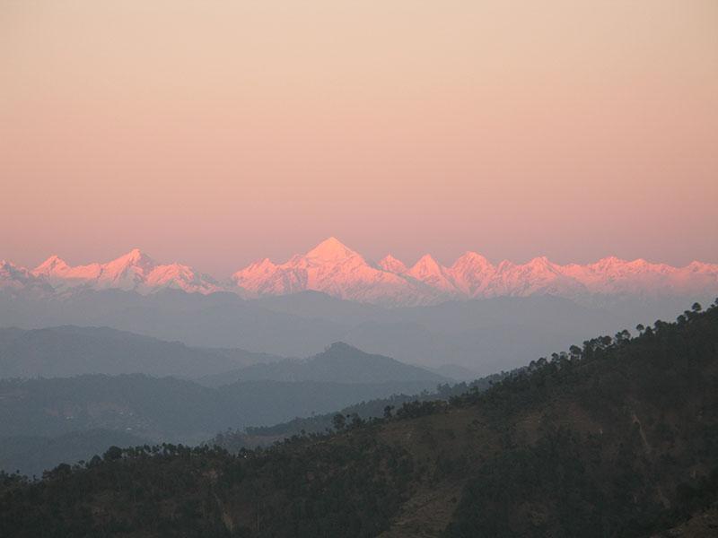 sunrise in chaukori