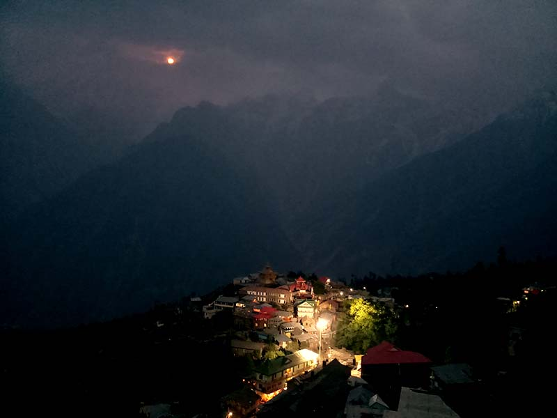 night view of kalpa