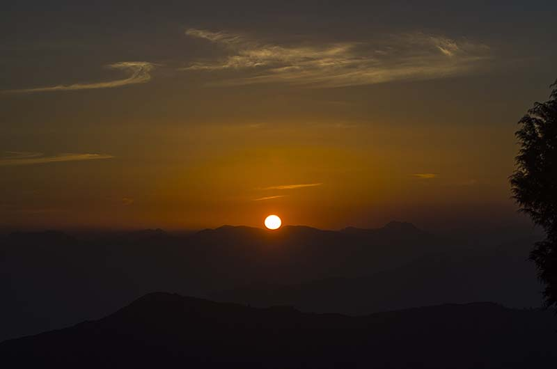 sunrise in chakrata