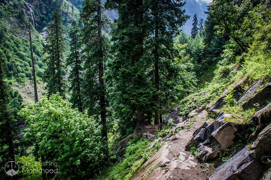 trekking to kheerganga