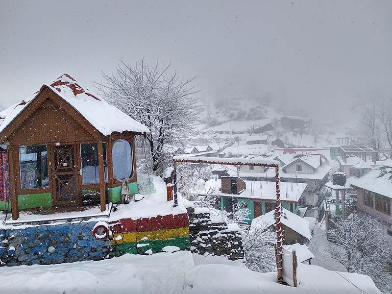 snowfall in sarahan
