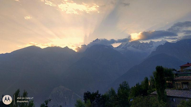 sunrise in kalpa village