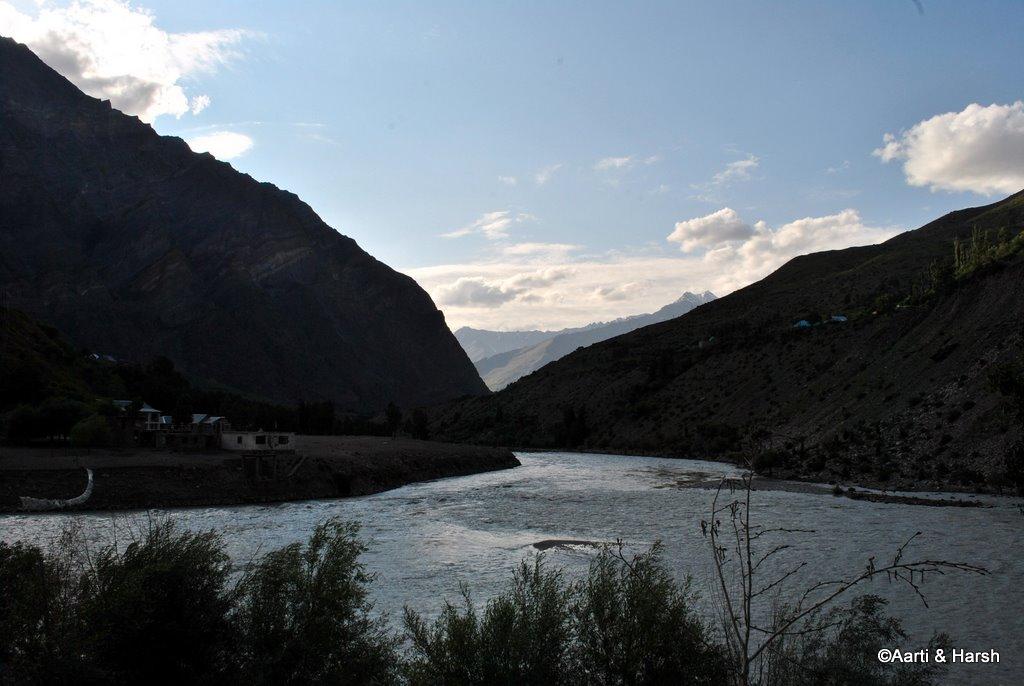 chandra and bhaga river confluence
