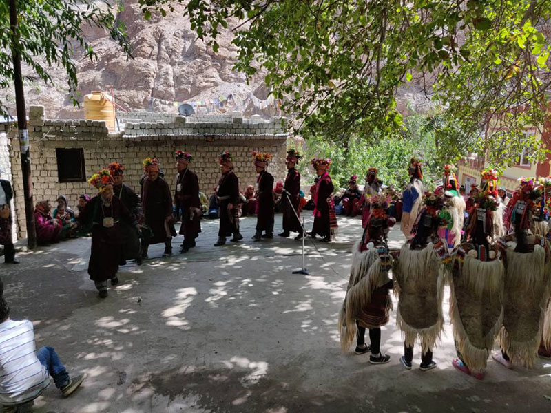 celebration in aryan villages of ladakh