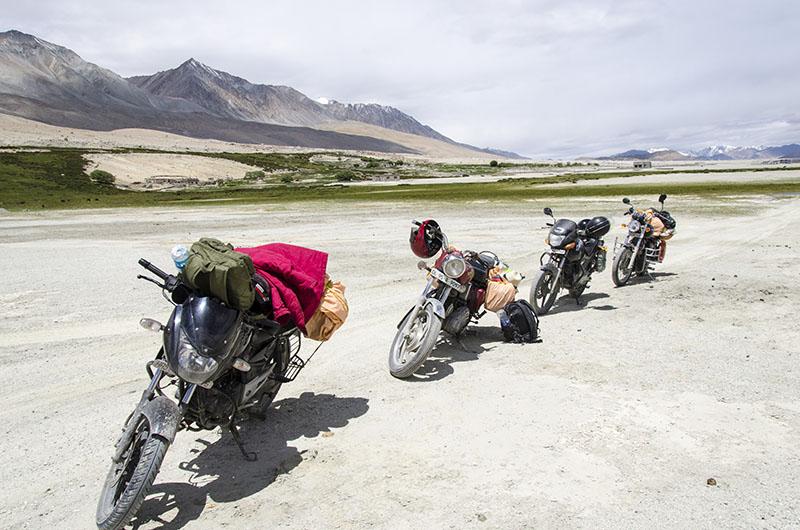 leh ladakh on 100cc bike
