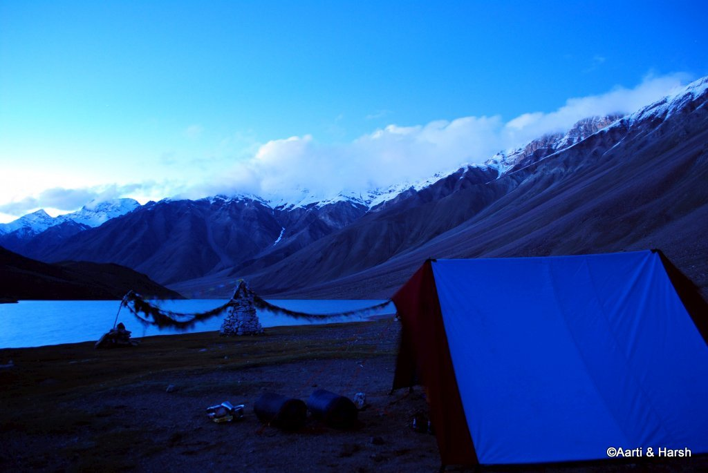 self camping at chandratal