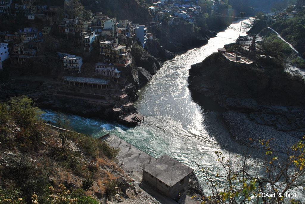 confluence of Alaknanda & Bhagirathi