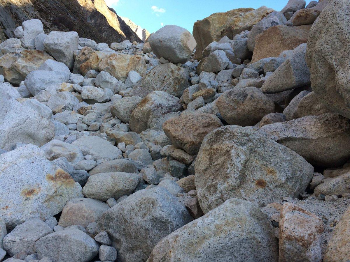 boulders on the trek