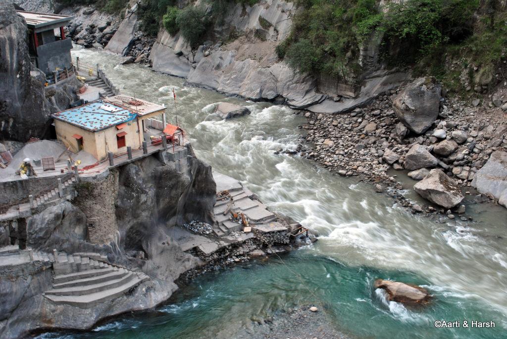 confluence of Dhauli Ganga & Alaknanda rivers